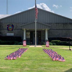 9/11 CEREMONY Flags