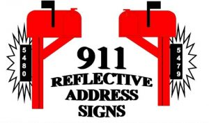 Reflective Address Signs Forsale